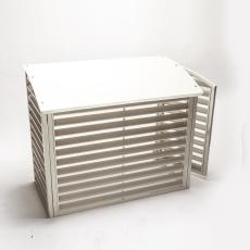 QsanTec skydd för utomhusdel i plåt med lucka Image